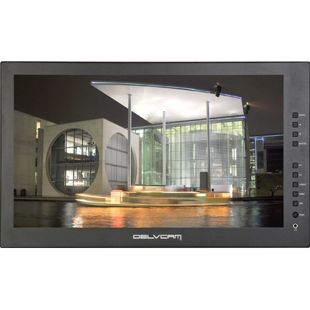 Delvcam DELV-3GHD-17IRM 17.3-Inch Rackmount 1920 x1080 3G-SDI LCD Monitor with HDMI-SDI Cross Conversion V-Mount Plate