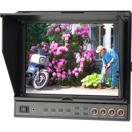 Delvcam 9.7in Dual Input HDMI Monitor With Advanced Function - With Case