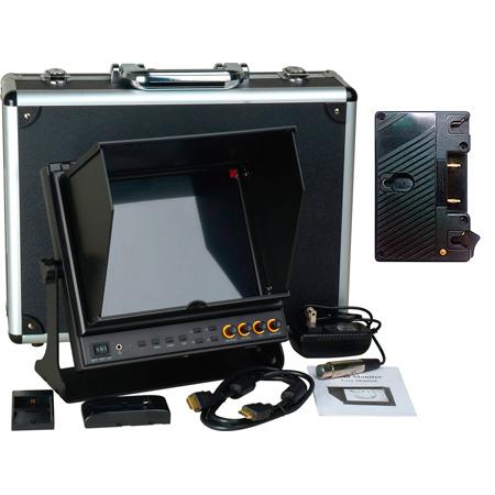 Delvcam  9.7in. SDI Monitor - Dual HDMI Input & 1 HDMI Output & Anton Bauer Bat