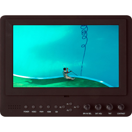 Delvcam DELV-SDI-7 Advanced Function 7-Inch 3G-SDI Camera-Top LED Monitor